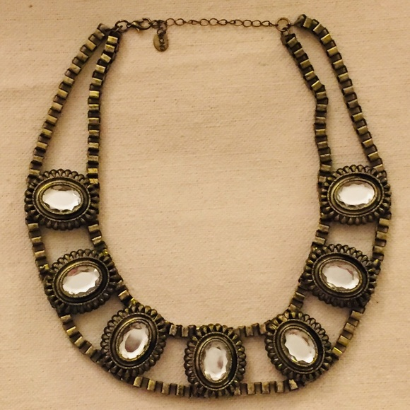 Icing Collar Statement Metal/Crystal Necklace